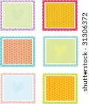 illustration of six square... | Shutterstock .eps vector #31306372