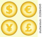 dollar  euro  yen and pound....