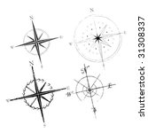 set of four compass roses | Shutterstock .eps vector #31308337