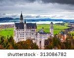 neuschwanstein castle in... | Shutterstock . vector #313086782