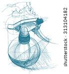 spray trigger  atomizer ...   Shutterstock .eps vector #313104182