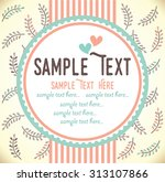 template frame design for... | Shutterstock .eps vector #313107866