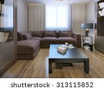 lounge contemporary style. 3d... | Shutterstock . vector #313115852