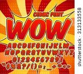 alphabet collection set. comic... | Shutterstock .eps vector #313133558