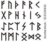 futhark elder futhark runes... | Shutterstock .eps vector #313134632