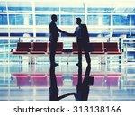 businessmen talking business... | Shutterstock . vector #313138166
