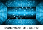 dark blue color light abstract... | Shutterstock .eps vector #313138742