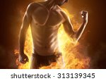 ripped man | Shutterstock . vector #313139345