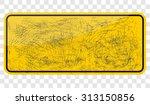 empty yellow sign | Shutterstock .eps vector #313150856