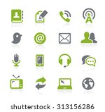 communications icons    natura... | Shutterstock .eps vector #313156286