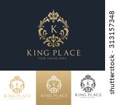 king place luxury crest royal... | Shutterstock .eps vector #313157348