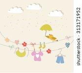 scrapbook design elements baby... | Shutterstock .eps vector #313171952