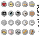 broken things icons set in flat ... | Shutterstock .eps vector #313175456