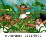 the plague of frogs | Shutterstock . vector #313175972