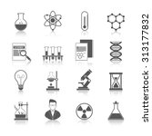 chemistry icons black set with... | Shutterstock . vector #313177832