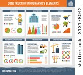 construction infographics set... | Shutterstock . vector #313178042