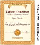 certificate document of... | Shutterstock . vector #313179572
