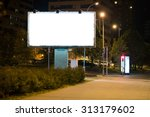 blank advertising billboard in... | Shutterstock . vector #313179602