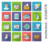 seo internet marketing computer ...   Shutterstock . vector #313180778