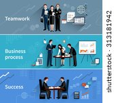 teamwork banners set with... | Shutterstock . vector #313181942