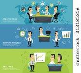 office work team creative... | Shutterstock . vector #313185356