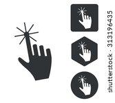 hand cursor icon set ...