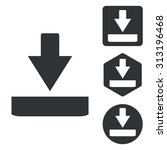 download icon set  monochrome ...