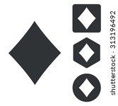 diamonds icon set  monochrome ...