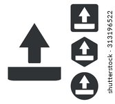 upload icon set  monochrome ...