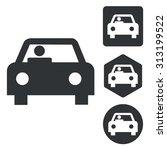 car icon set  monochrome ...