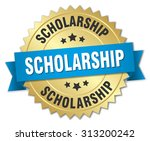 scholarship 3d gold badge with...   Shutterstock .eps vector #313200242
