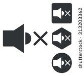 muted sound icon set ...