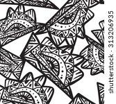 seamless black and white...   Shutterstock . vector #313206935