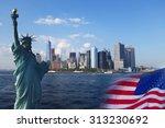 Постер, плакат: USA mashup Statue