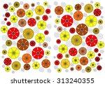enchanting  unusual dainty ... | Shutterstock . vector #313240355