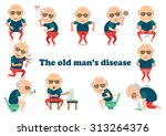 the old man's disease... | Shutterstock .eps vector #313264376