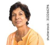 portrait of a 50s indian mature ... | Shutterstock . vector #313266296
