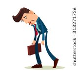 frustrated young worker with a... | Shutterstock .eps vector #313271726