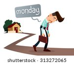 frustrated young worker with a...   Shutterstock .eps vector #313272065