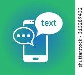 mobile chatting icon. mobile...