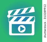 film maker clapper board  icon. ... | Shutterstock .eps vector #313289912