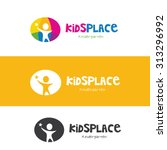 kids place vector logo template. | Shutterstock .eps vector #313296992