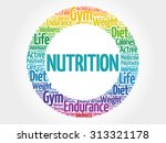 nutrition circle stamp word... | Shutterstock .eps vector #313321178