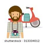 hipster style digital design ... | Shutterstock .eps vector #313334012