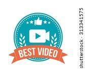 best video round banner badge | Shutterstock .eps vector #313341575