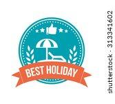 best holiday round banner badge | Shutterstock .eps vector #313341602