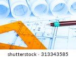 construction industry... | Shutterstock . vector #313343585