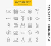 line oktoberfest icons big set. ... | Shutterstock .eps vector #313347692
