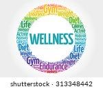 wellness circle stamp word... | Shutterstock .eps vector #313348442