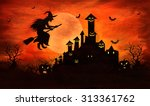 halloween background | Shutterstock . vector #313361762